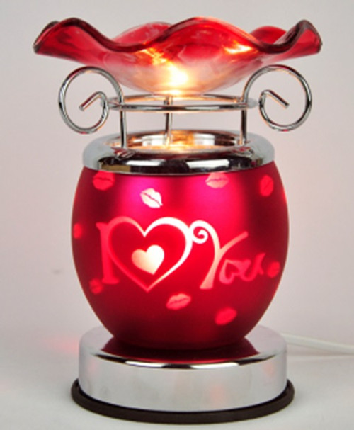 Red Electrical Oil Burners - I Love You