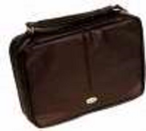Bible Cover-Two Fold Organizer-Large-Brown Luxleather