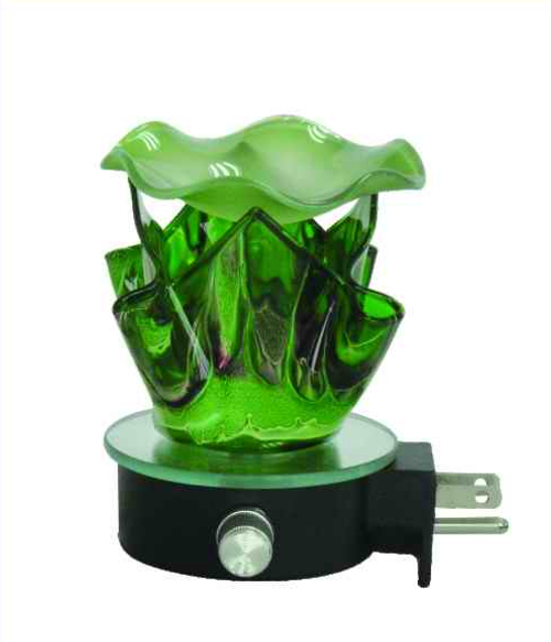 Full Size Fortune Cookie Wall Plug In Burner| Green Glass