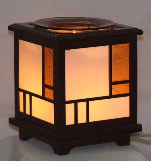 Stained Glass  Wood Electric Oil Burner