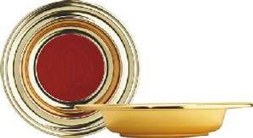 """""""Offering Plate-Brasstone-Anodized Aluminum (Red Ihs)-14"""" (Rw 314ab)+"""""""