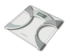 Ultra Slim Glass Analyser Body Fat Scales - White