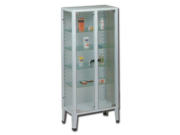 Cabinet - 2 Doors - Tempered Glass