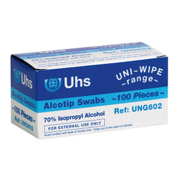 3cm x 3cm Alcoprep Swabs (Box of 100)