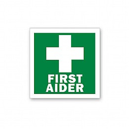 First Aider Label Sign
