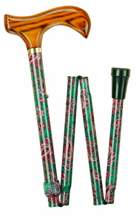 Patterned Folding Stick Paisley