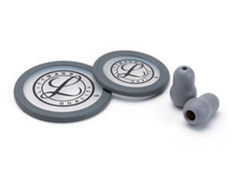 LITTMANN KIT 40017: 2 DIAPHRAGMS+RIM+EARTIPS for ClassicI III, Cardiology IV - grey - blister