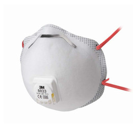 3M 8833 Valved FFP3 Face Mask