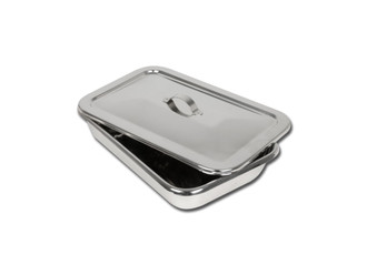 S/S INSTRUMENT TRAY WITH LID - 264 x 172 x 47 mm