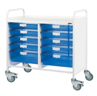 VISTA 100 Trolley - 8 Single/2 Double Trays