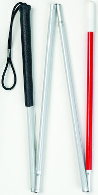 Four Section Folding Blind Stick