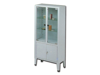 Cabinet - 4 Doors - Tempered Glass
