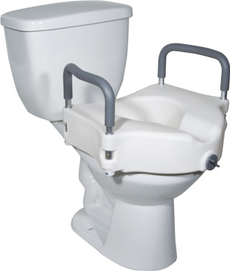 2 In 1 Elevated Toilet Seat With Removable Arms
