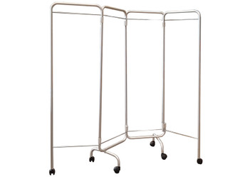 4 WING SCREEN with castors - without curtains