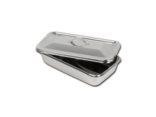 S/S INSTRUMENT TRAY WITH LID - 223 x 126 x 45 mm
