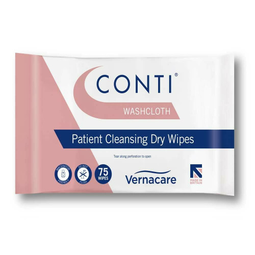 CONTI WASHCLOTH DRY WIPE LARGE, Pack of 75