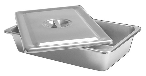 S/S INSTRUMENT TRAY WITH LID - 385 x 335 x 50mm