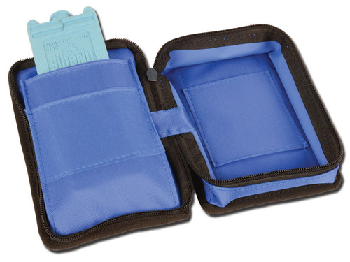 Mini Diabetic Bag - Empty - Blue