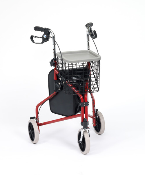 Steel Triwalker with a Bag, Basket and Tray