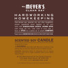 mrs meyers acorn spice soy candle small back label