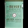 mrs meyers basil dryer sheets