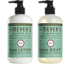 mrs meyers basil hand care basics set