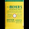 mrs meyers honeysuckle dryer sheets