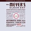mrs meyers lavender automatic dish packs back label