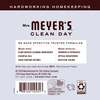 mrs meyers lavender fabric softener back label