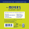 mrs meyers lemon verbena laundry detergent back label