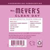 mrs meyers peony liquid hand soap back label