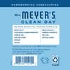 mrs meyers rain water liquid hand soap back label