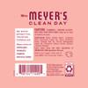 mrs meyers rose room freshener back label