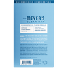 mrs meyers rain water dryer sheets back label