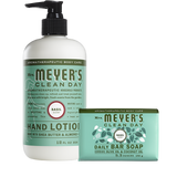 mrs meyers basil bar soap & hand lotion set
