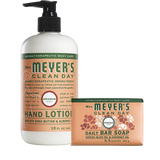 mrs meyers geranium bar soap & hand lotion set