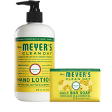 mrs meyers honeysuckle bar soap & hand lotion set