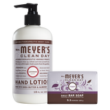 mrs meyers lavender bar soap & hand lotion set
