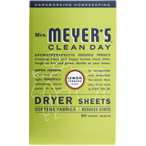 mrs meyers lemon verbena dryer sheets