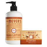 mrs meyers oat blossom bar soap & hand lotion set