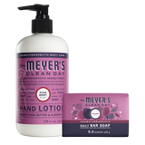 mrs meyers plum berry bar soap & hand lotion set