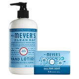 mrs meyers rain water bar soap & hand lotion set