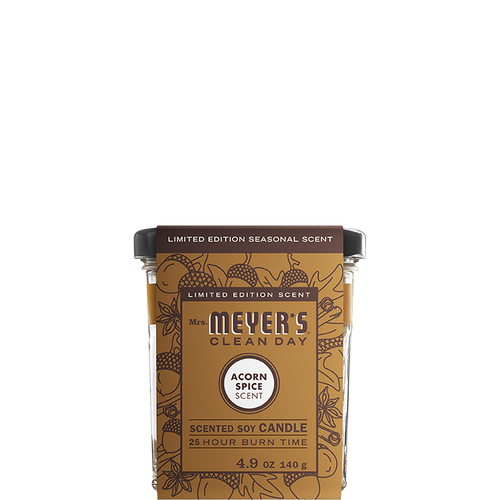 mrs meyers acorn spice soy candle small