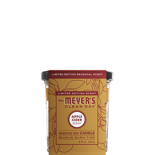 mrs meyers apple cider soy candle small