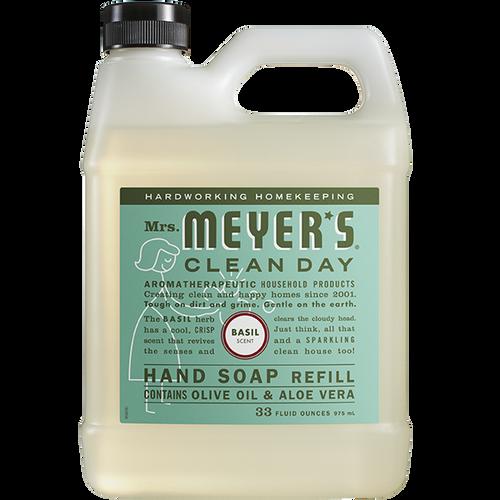 mrs meyers basil liquid hand soap refill