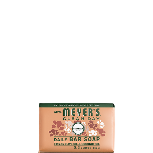 mrs meyers geranium daily bar soap