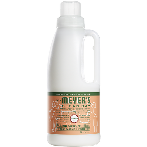 mrs meyers geranium fabric softener
