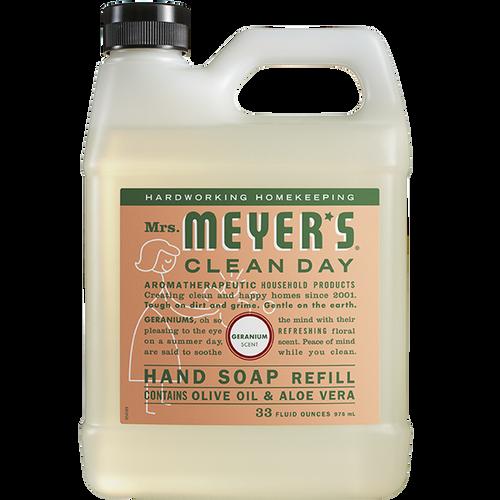 mrs meyers geranium liquid hand soap refill