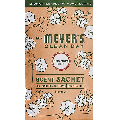 mrs meyers geranium scent sachet