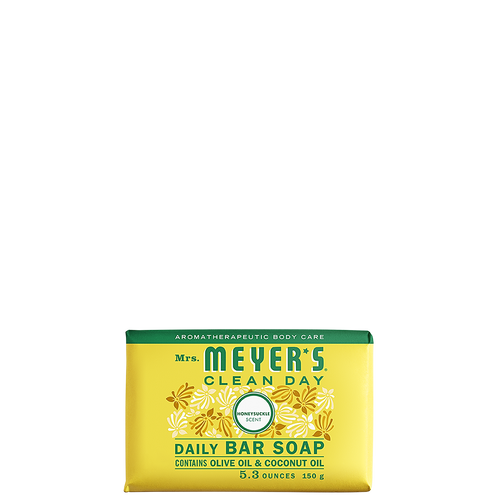 mrs meyers honeysuckle daily bar soap